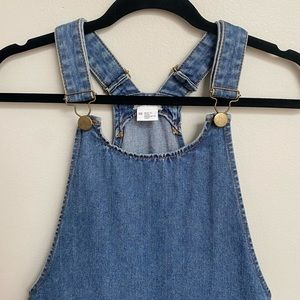 Cooperative Denim Pinafore Overalls Mini Dress